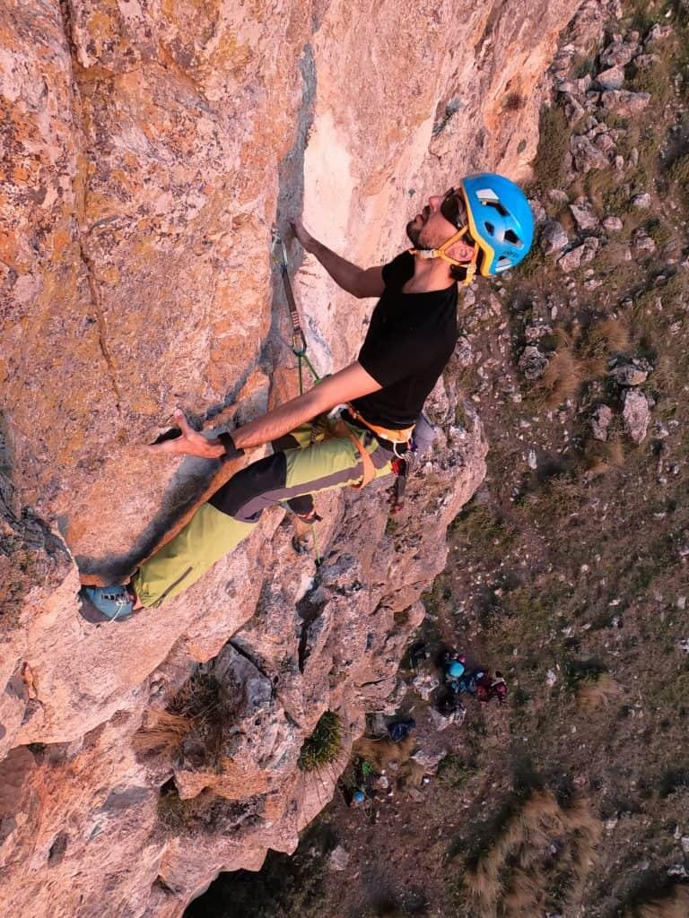 fuerza escalada en roca